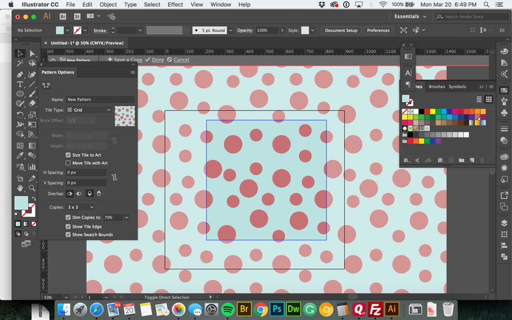 How to Make a Seamless Pattern in Illustrator - Wonder Forest