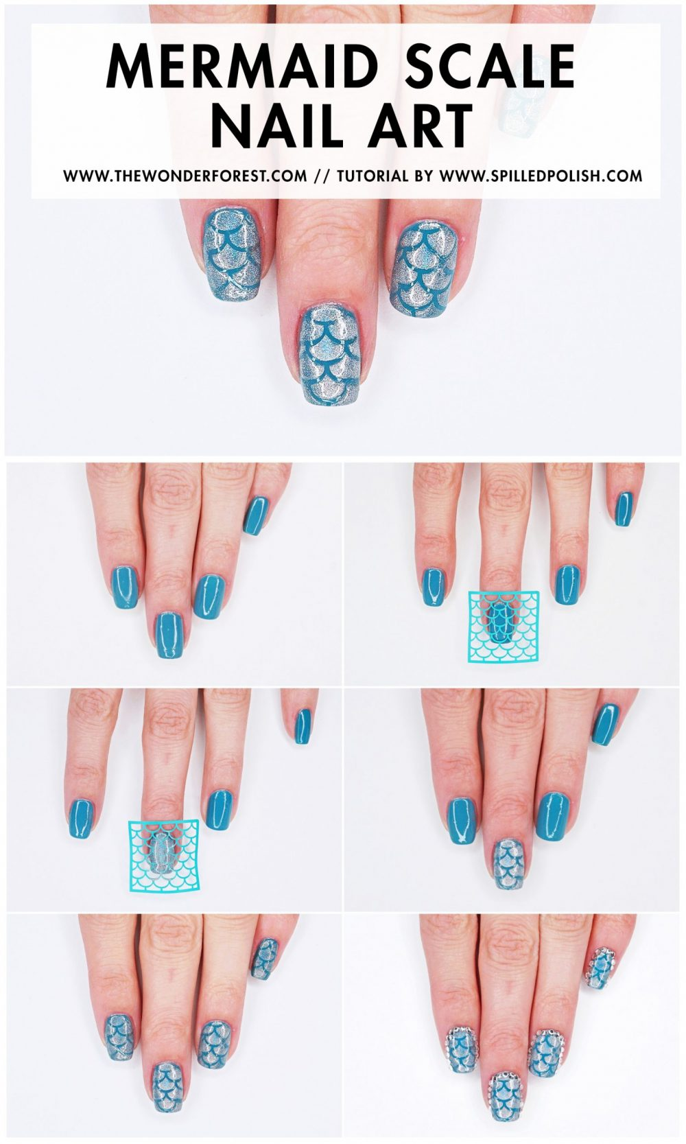 Mermaid Scale Nail Art Tutorial