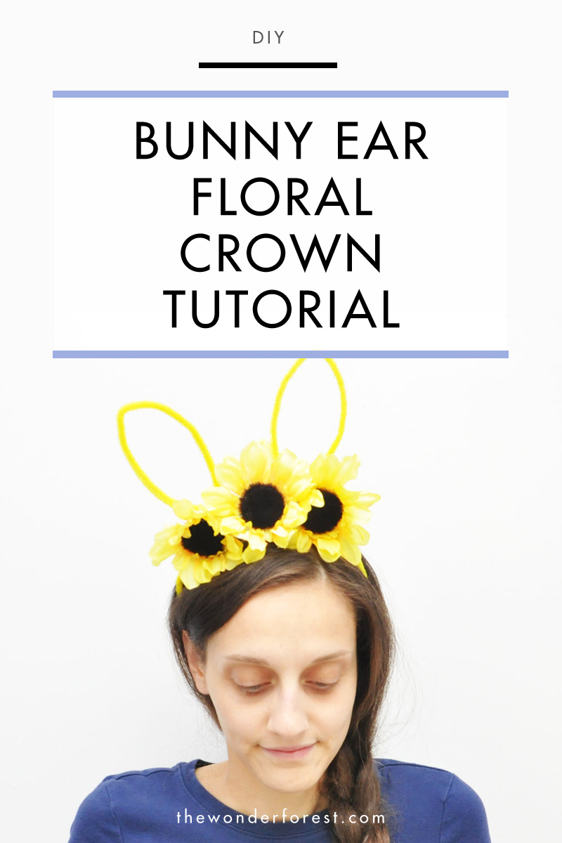 Bunny Ear Floral Crown Tutorial