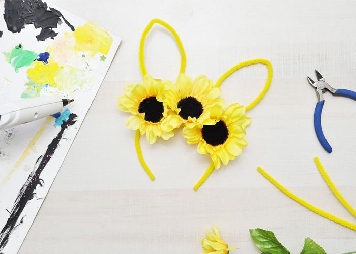 Bunny Ear Floral Crown Tutorial