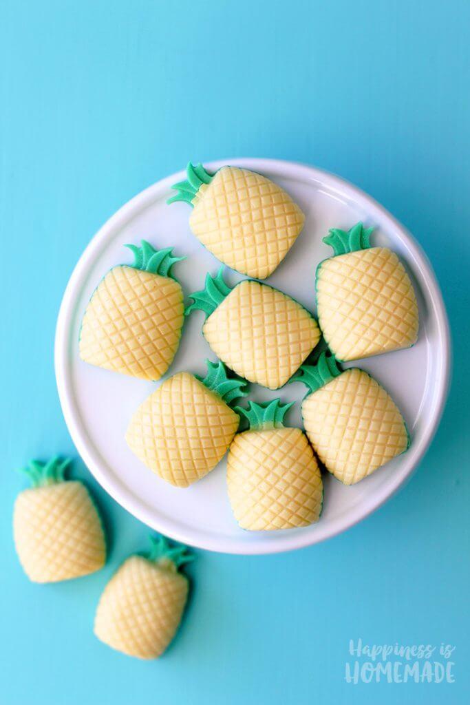 DIY Pina Colada Pineapple Soaps