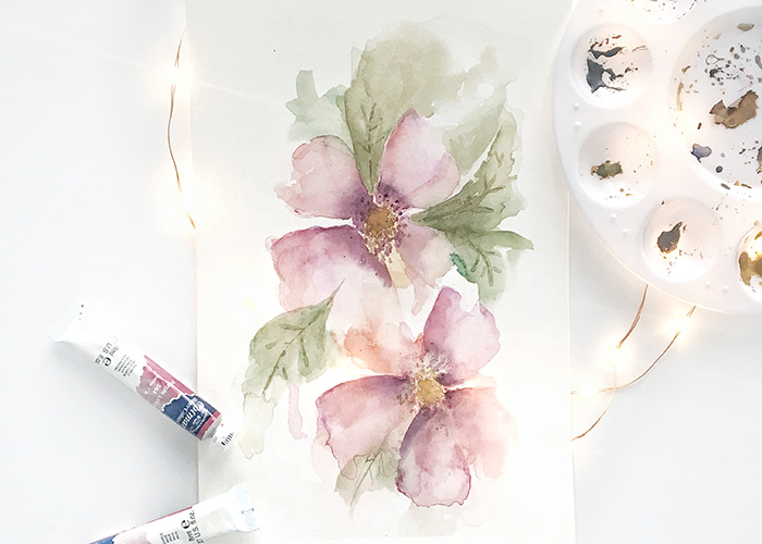How To Paint Loose Flowers in Watercolour