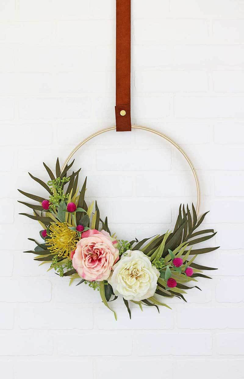 Modern Spring Wreath Tutorial