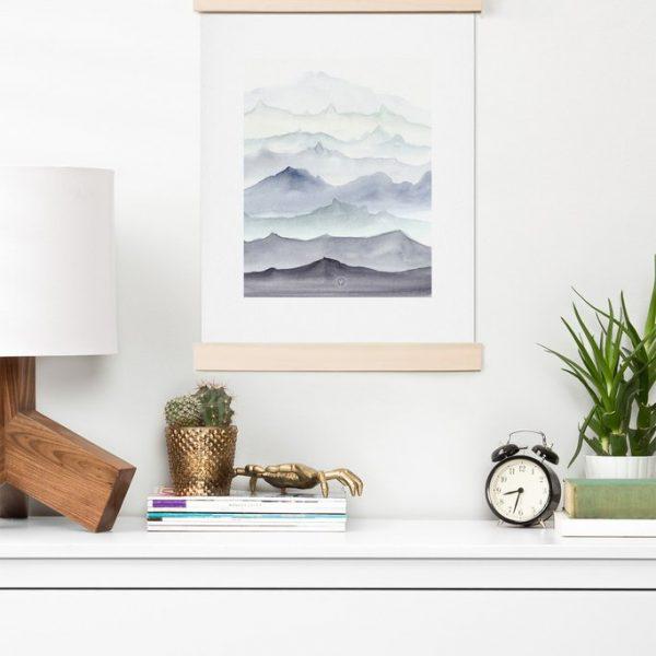 Mountain Mist Art Print by Wonder Forest