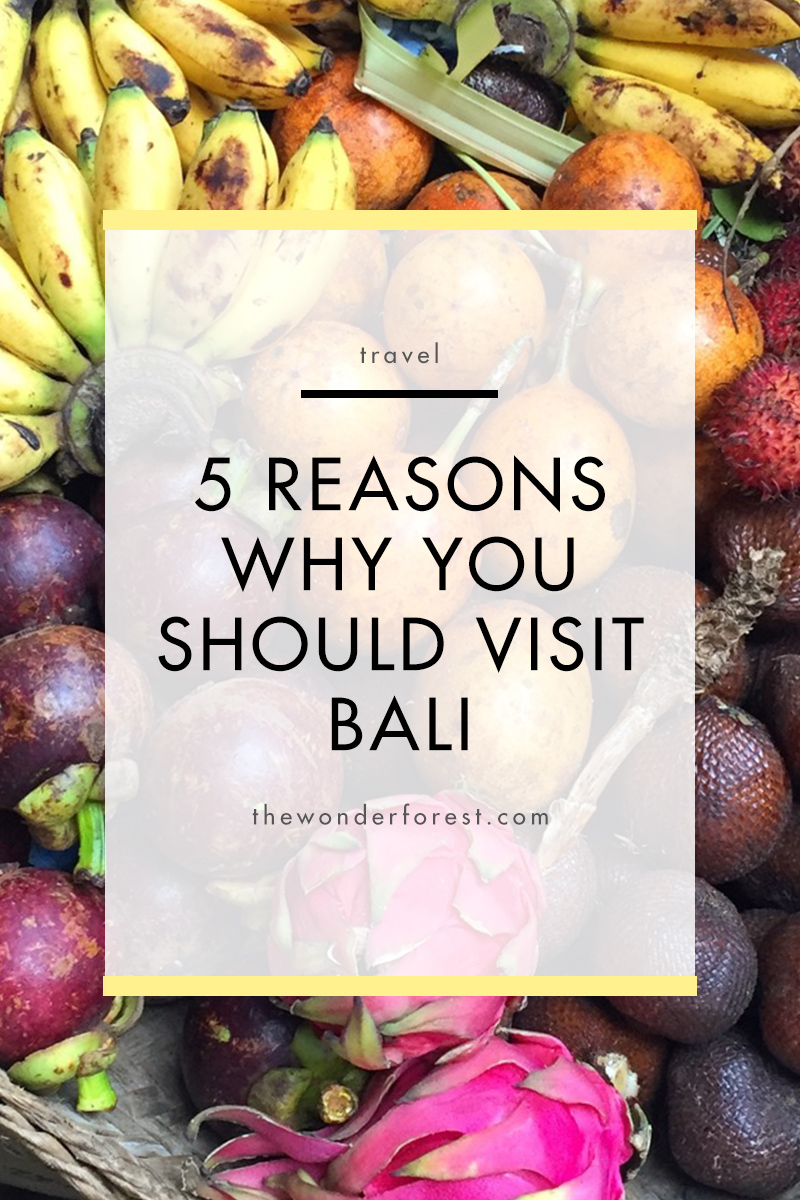 5 Reasons Why You Should Visit Bali