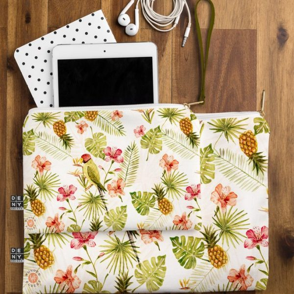 Totally Tropical Zip Pouch by Wonder Forest