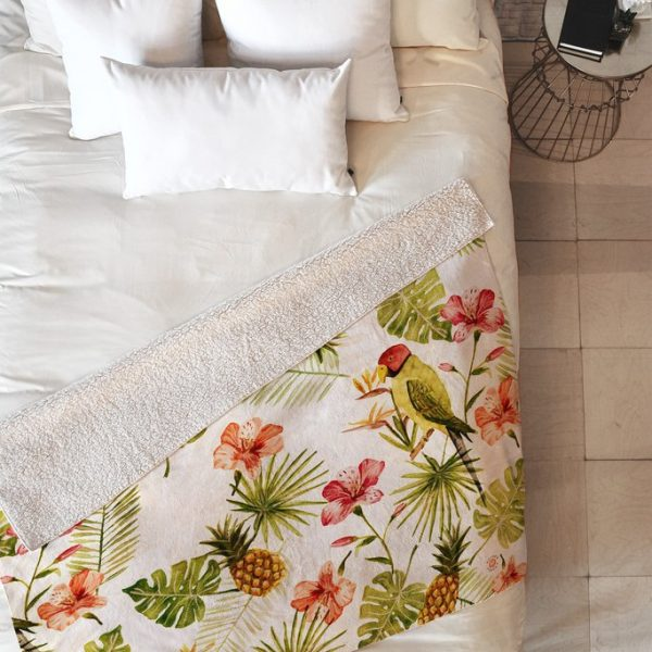 Totally Tropical Fleece Throw Blanket by Wonder Forest