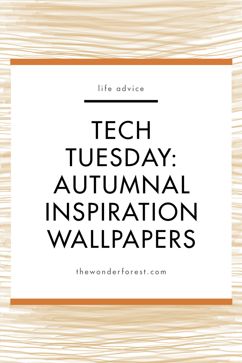TECH TUESDAY: Autumnal Inspiration Wallpapers
