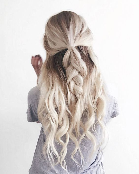 Half Up Wavy Braid