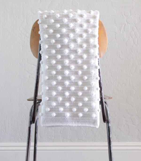 Polka Dot Crochet Blanket Tutorial
