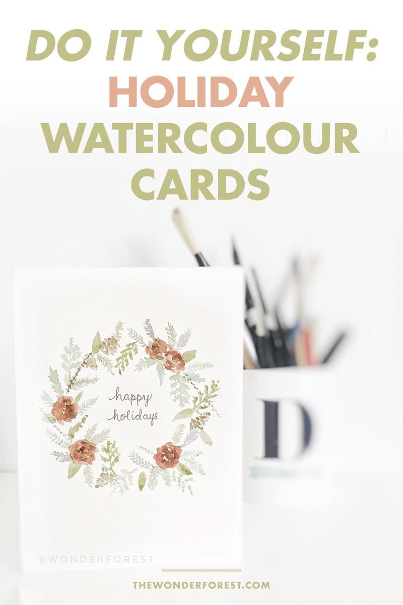 5 Holiday Watercolour Card DIY