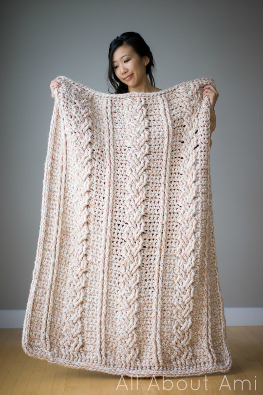 Free Braided Cable Crochet Blanket Pattern
