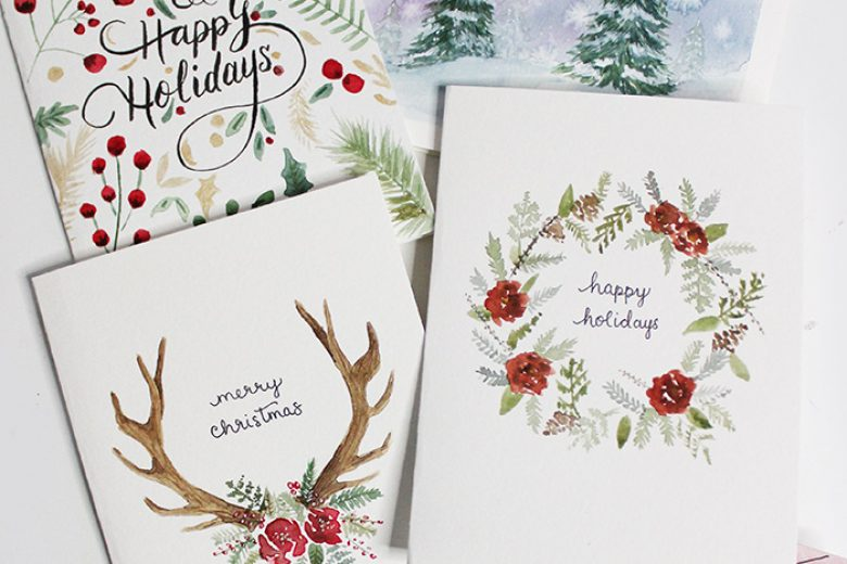 5 Diy Holiday Card Watercolour Tutorials Wonder Forest