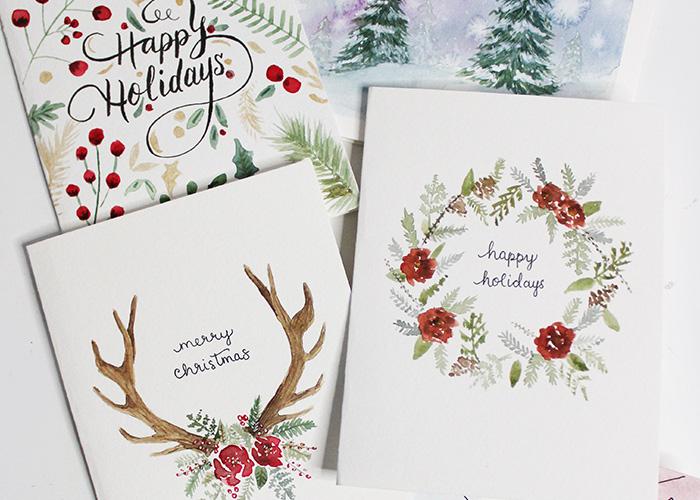 5 DIY Holiday Card Watercolour Tutorials