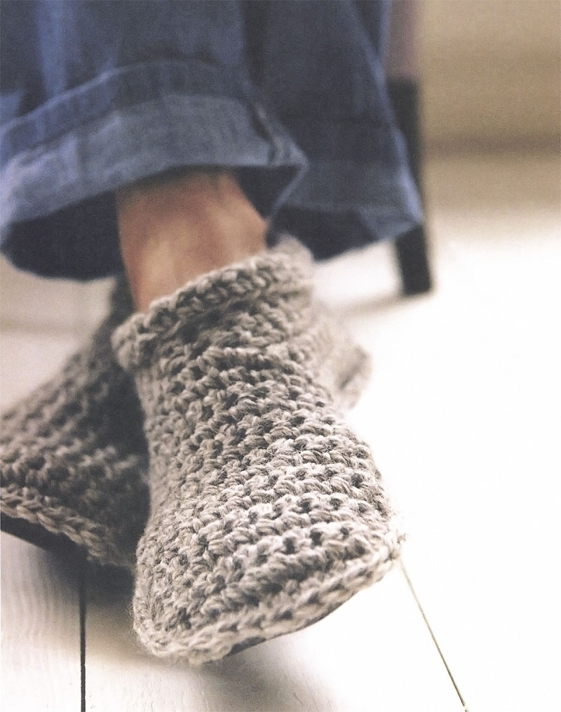 Free Slipper Bootie Crochet Pattern