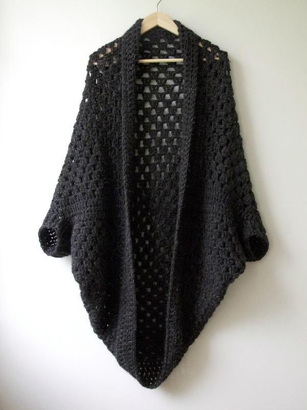 Granny Cocoon Shrug Free Crochet Pattern