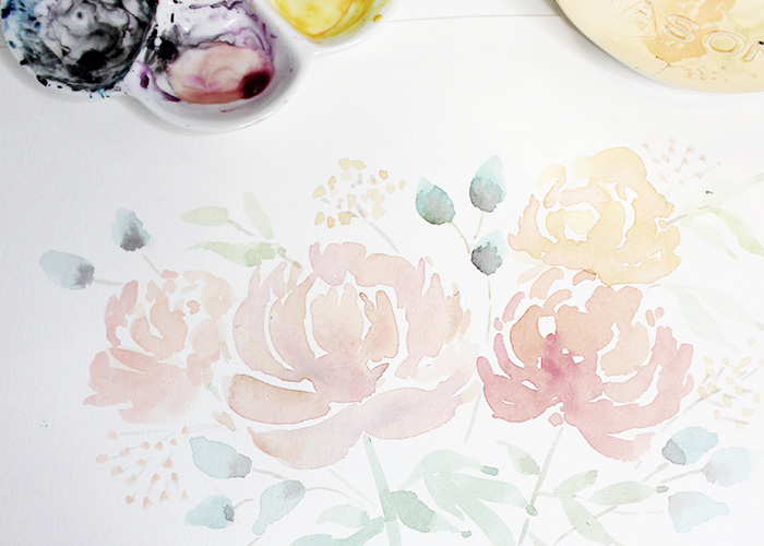 How To Paint Loose Watercolour Peonies