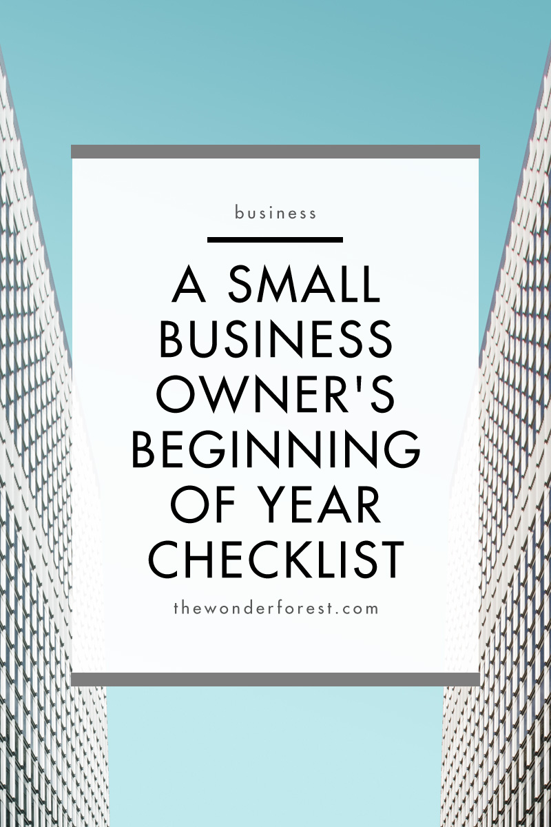 A Small Business Owner's Beginning of Year Checklist