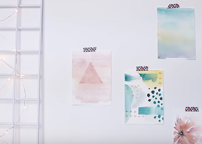 5 Minute Abstract Watercolour Tutorials