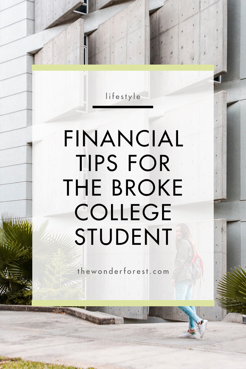 Financial Tips For The Broke College Student