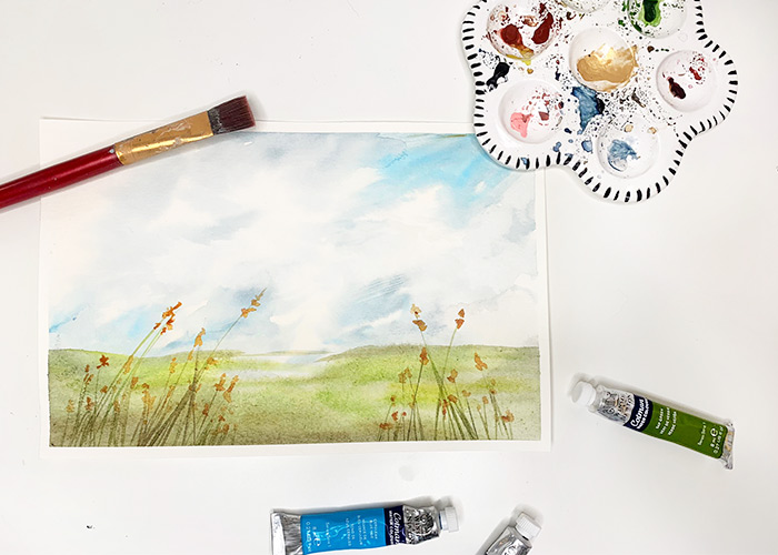 How To Paint Realistic Watercolour Clouds