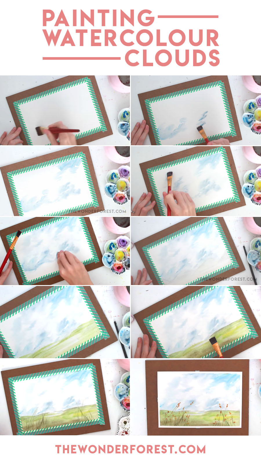 How To Paint Watercolor Clouds