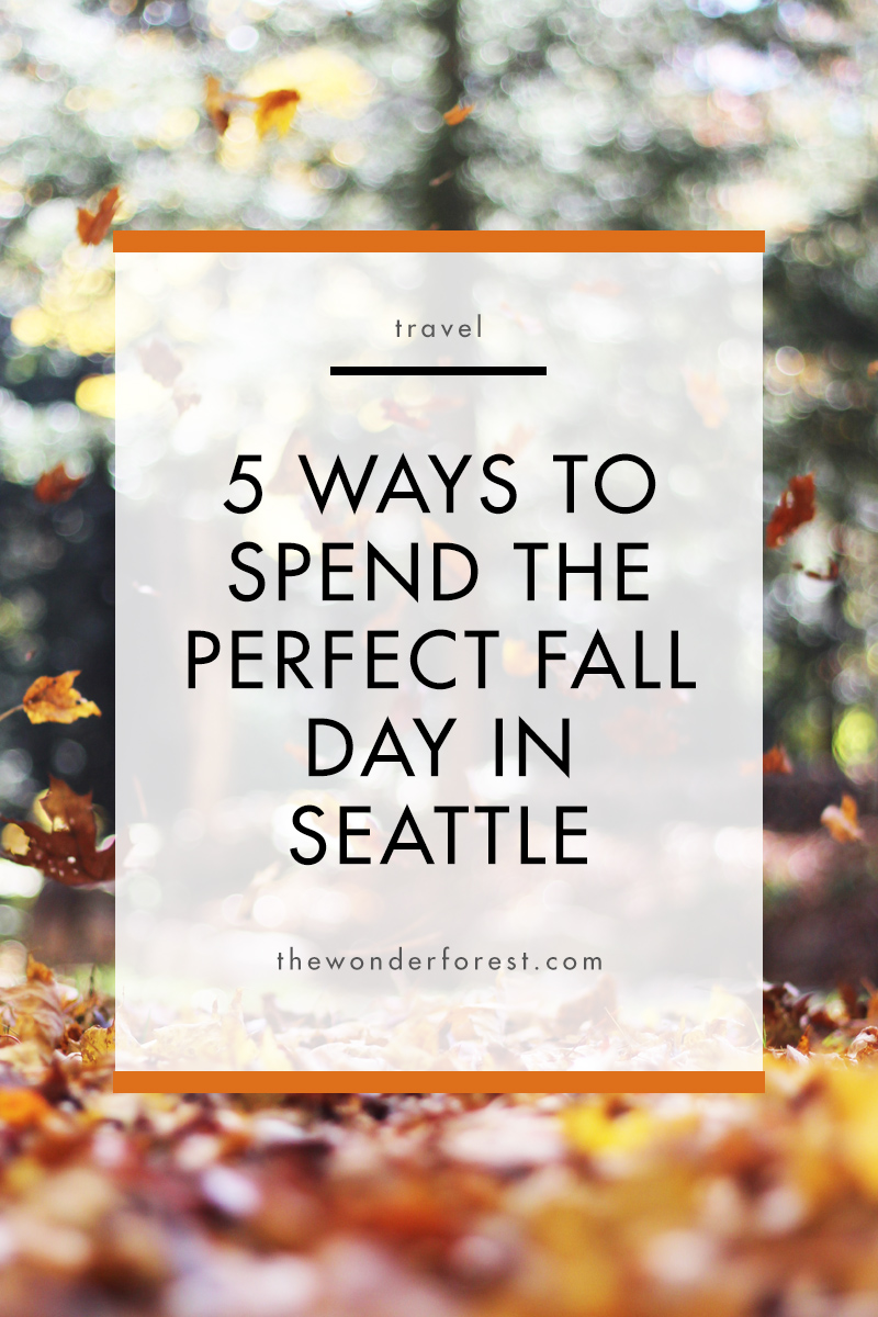 5 Ways to Spend the Perfect Fall Day in Seattle