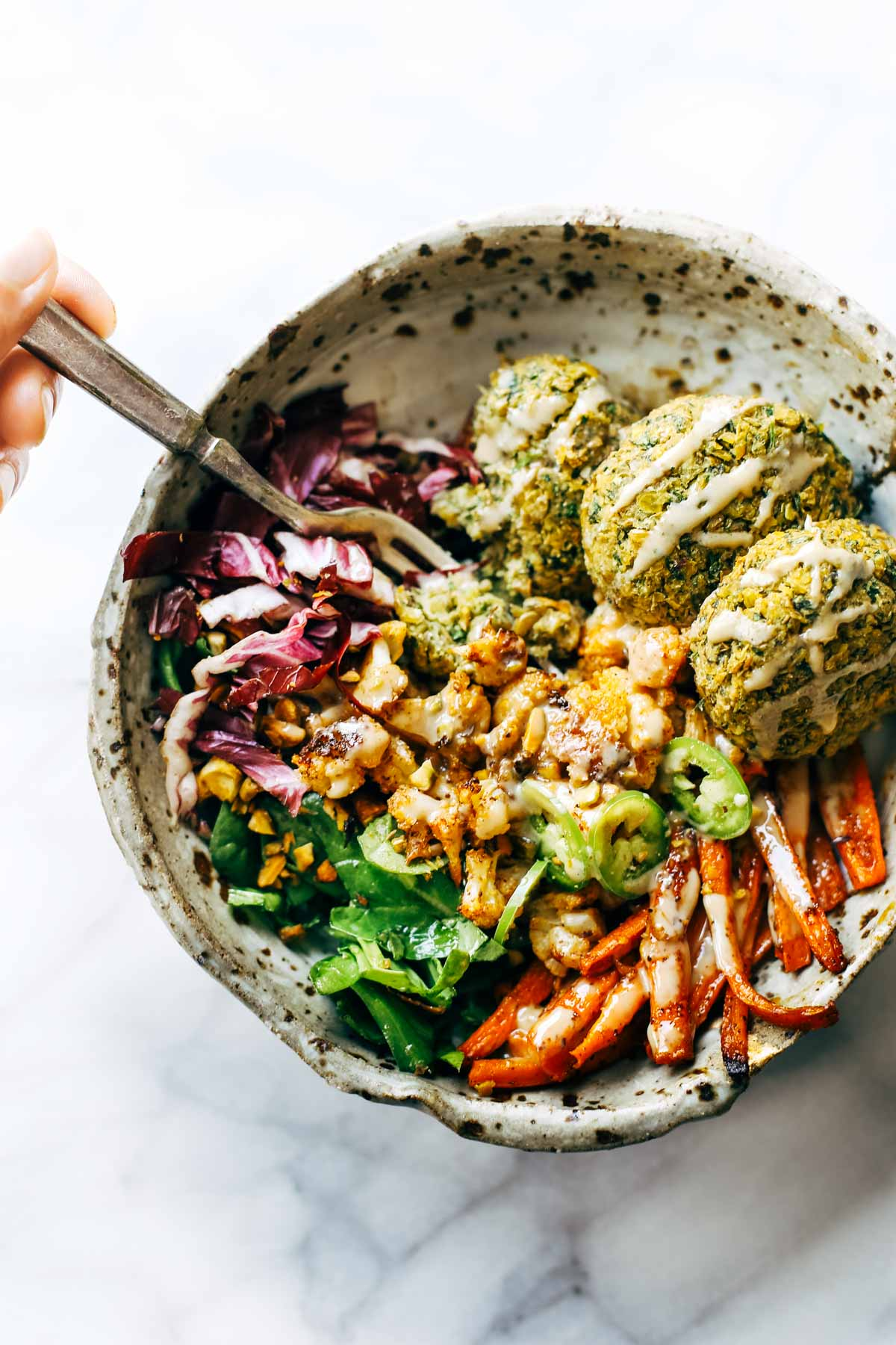 Falafel bowl by Pinch of Yum