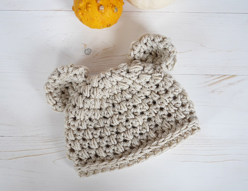 Adorable Bear Hat Crochet Tutorial