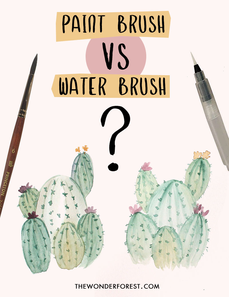 Paint Brush vs. Water Brush. Which is Better?