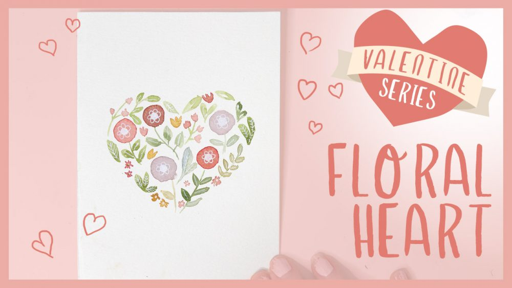 Floral Heart Watercolor Tutorial