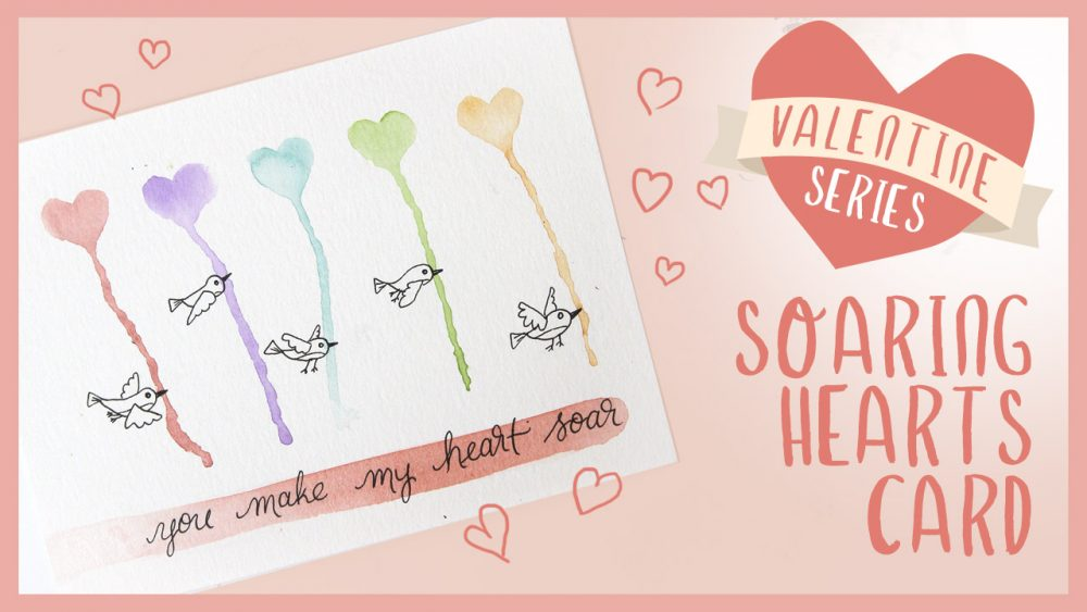 Dripping Hearts Watercolor Tutorial