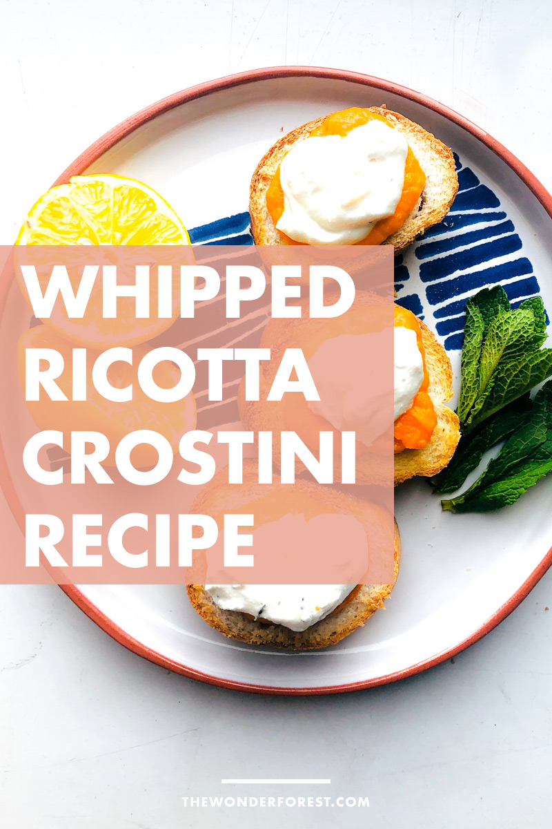 How to Make: Whipped Ricotta Crostini