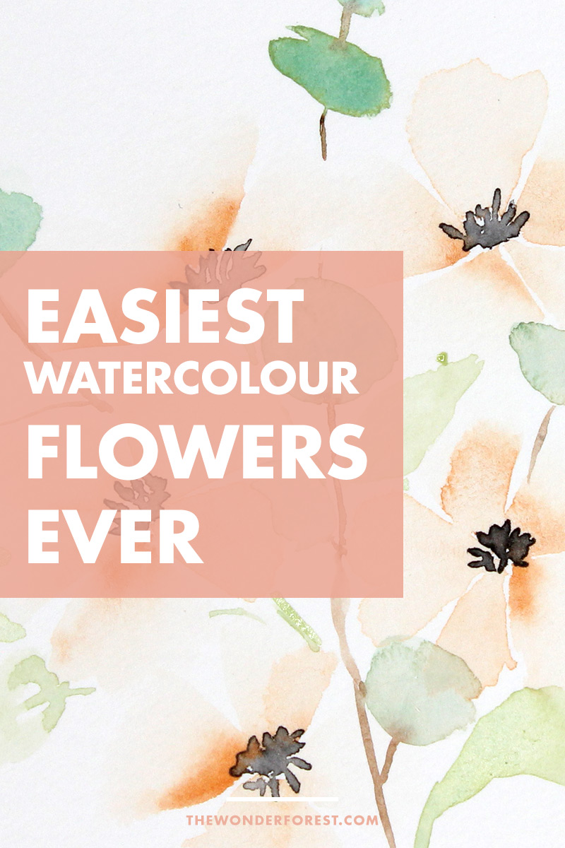 Easy Watercolour Flower Tutorial