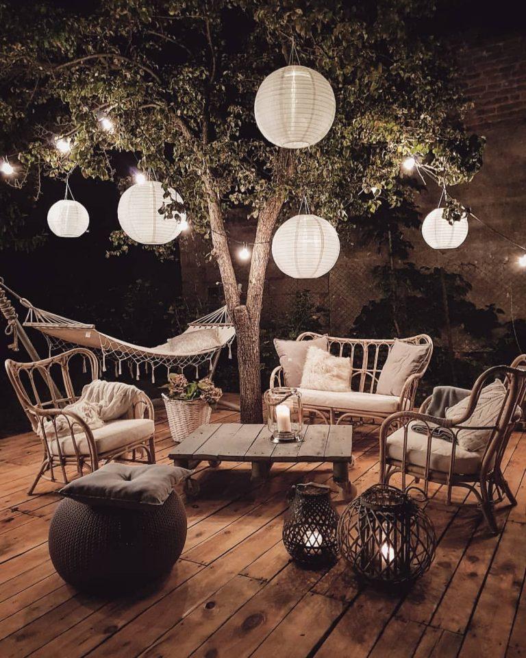 Cozy Bohemian Outdoor Patio