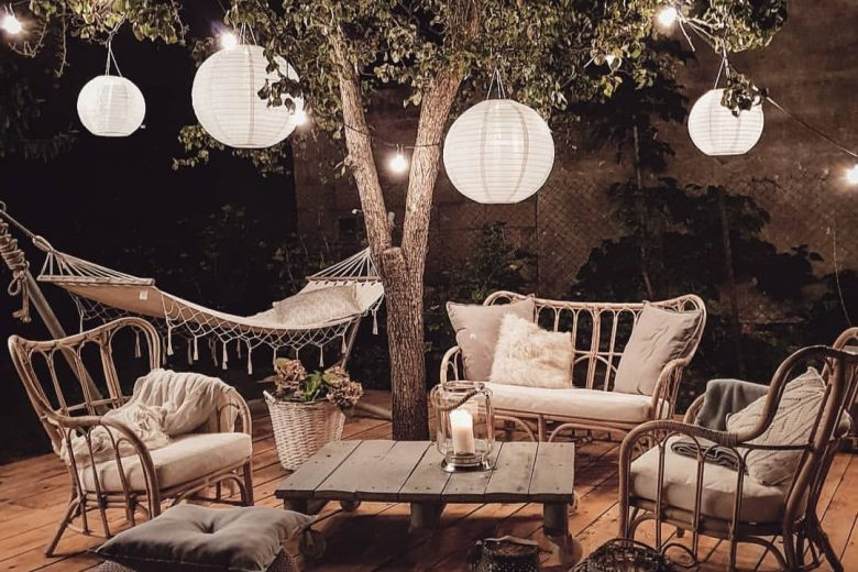 Cozy Bohemian Outdoor Patio