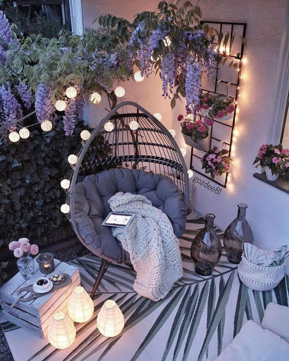Outdoor Boho Reading Nook