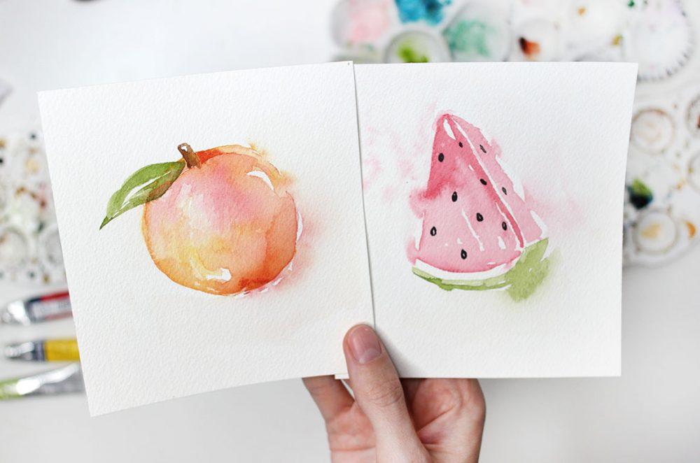 Loose Watercolour Tutorials: Summer Fruit