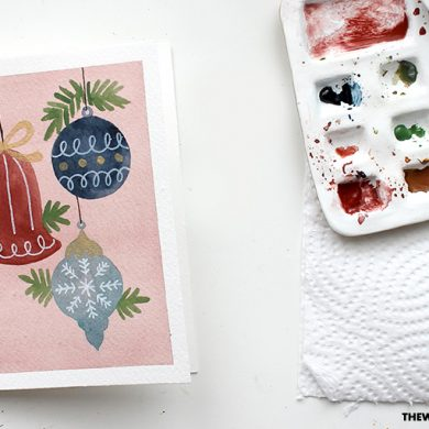 How To Paint Watercolour Ornaments