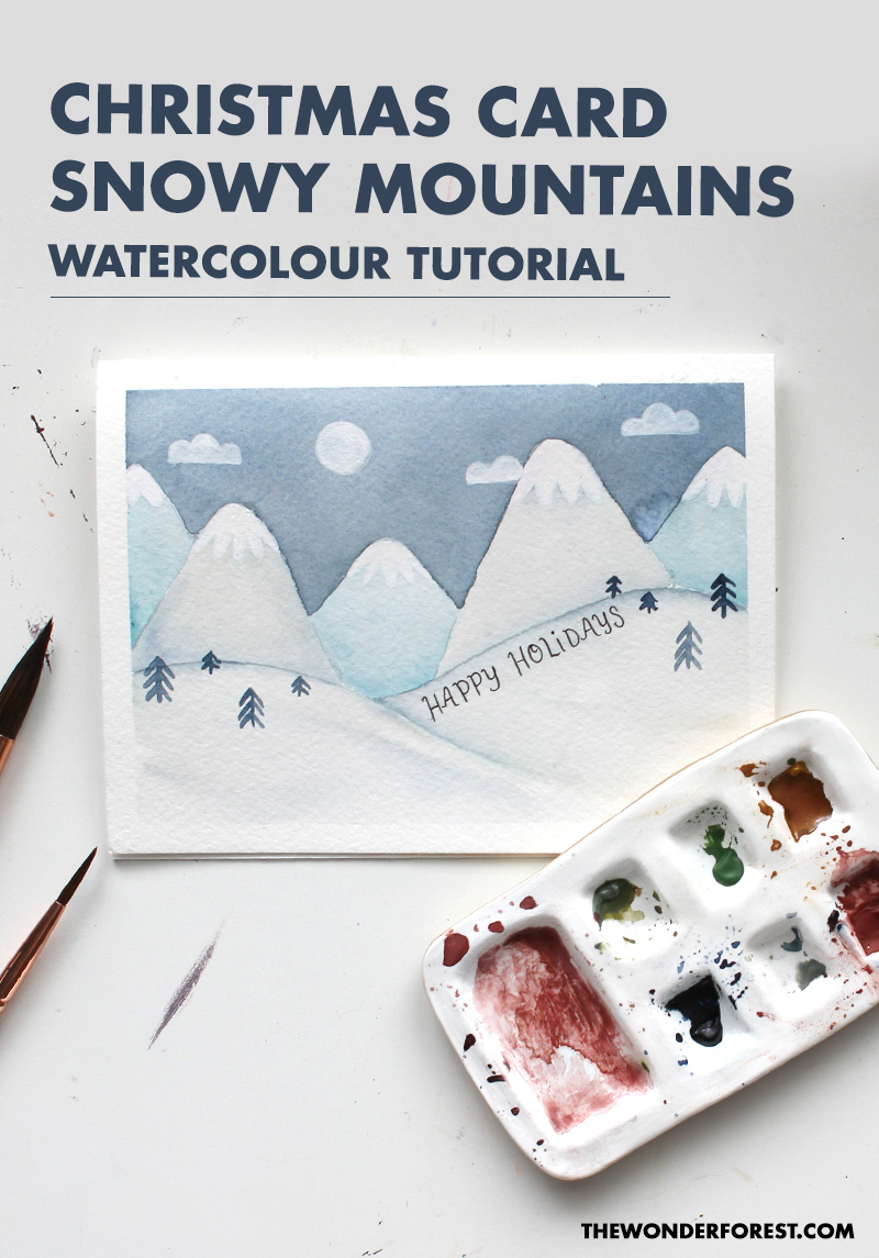Christmas Watercolour Card Tutorial
