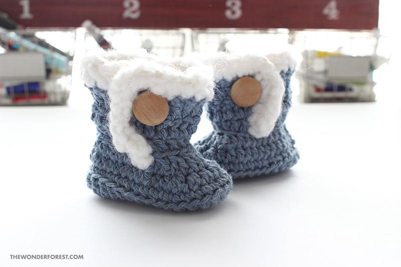 Ugg Style Crochet Baby Booties