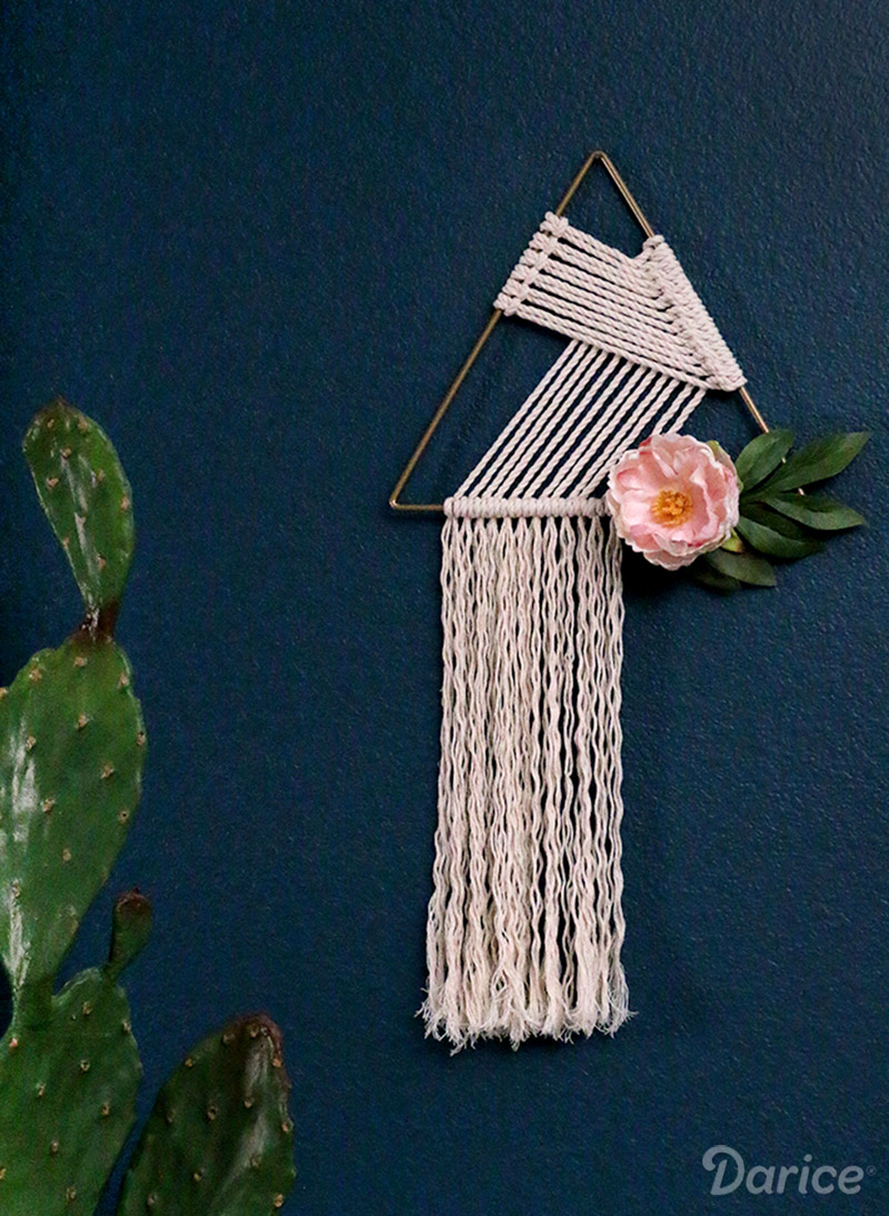 Triangle Macrame Wall Hanging