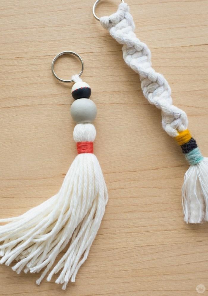 DIY Macrame Keychains