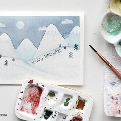 Snowy Mountain Card