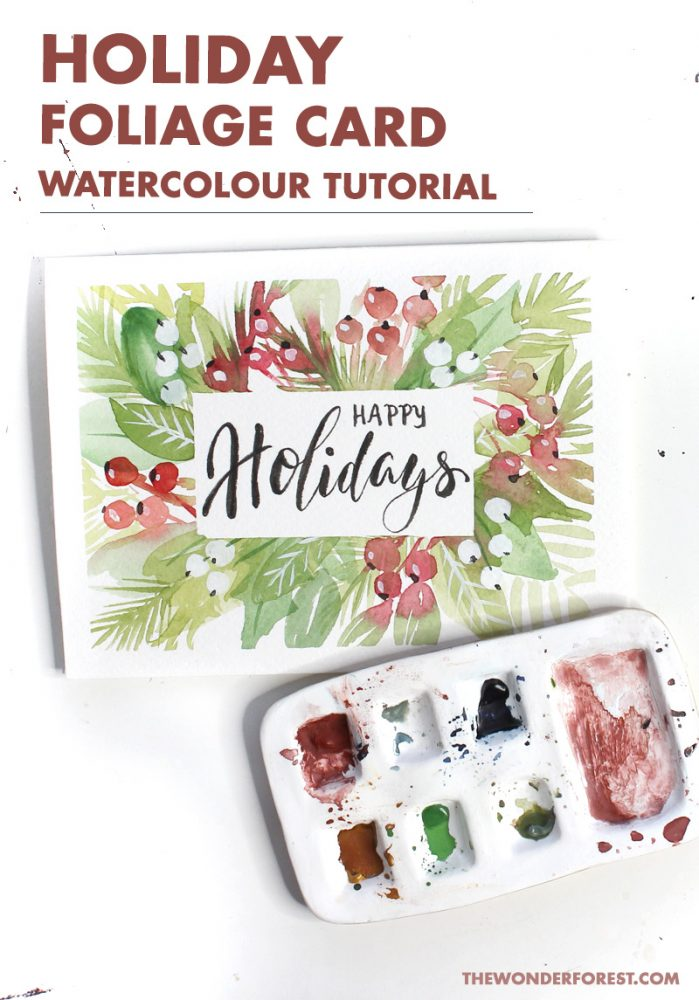 Holiday Card Watercolour Tutorial