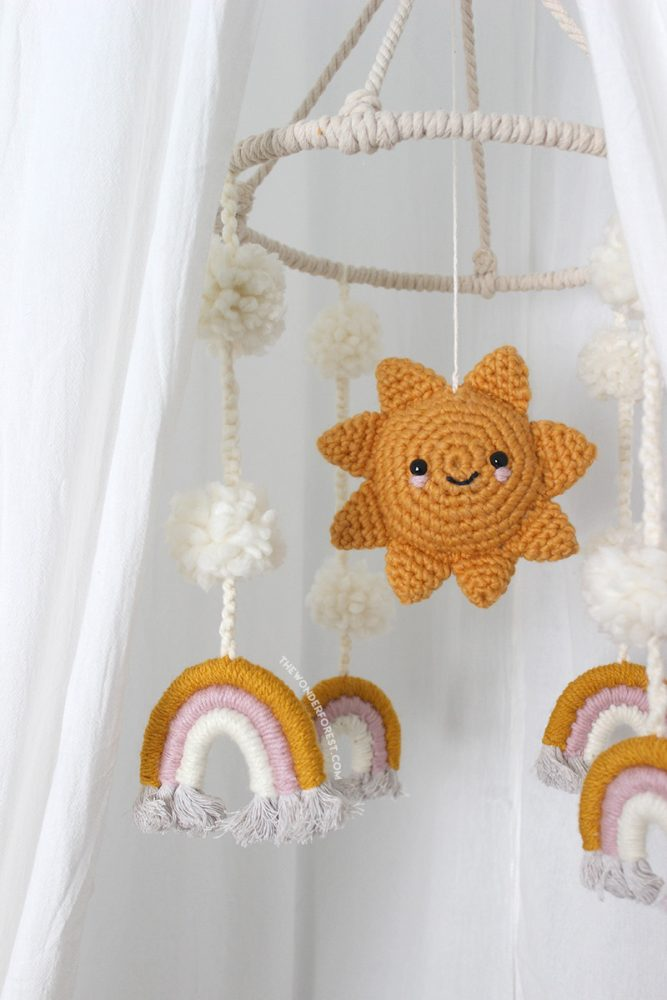 Macrame and Crochet Mobile