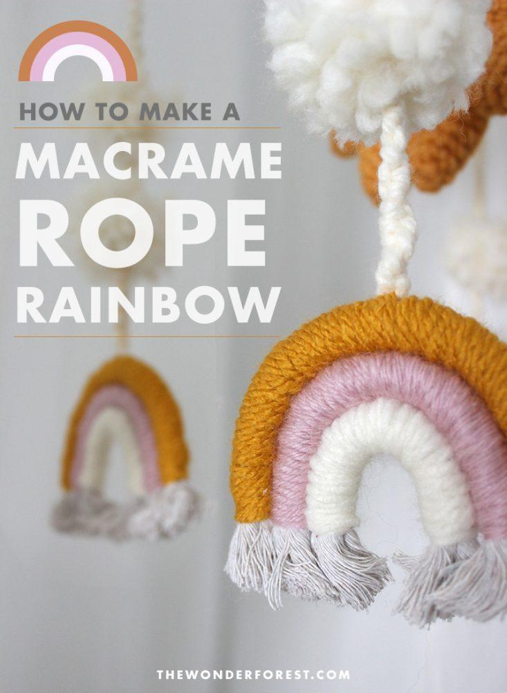 DIY Rope Rainbow