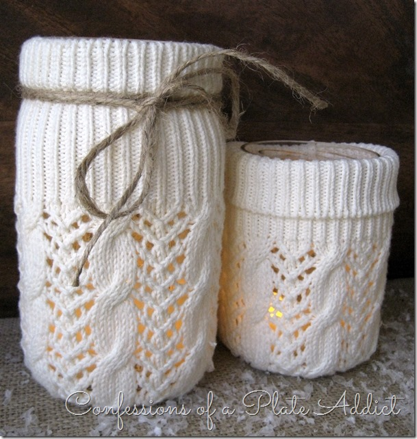 DIY Sweater Candles