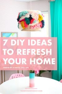 7 amazing DIY ideas that will refresh your home