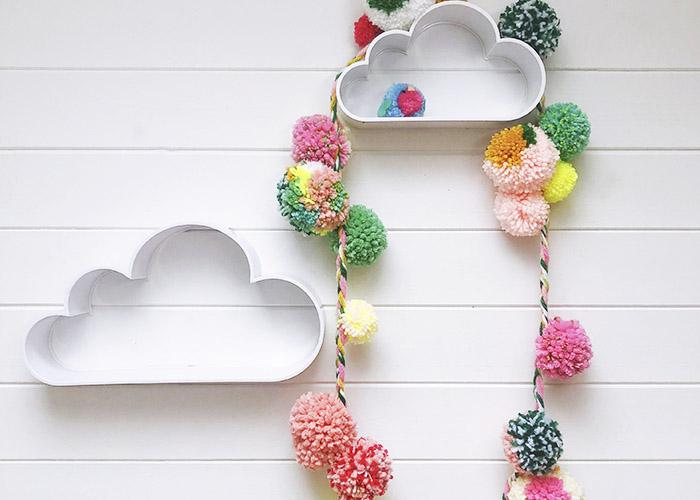 Make a Colourful Spring DIY Pom-Pom Garland